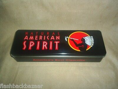 Natural American Spirit Collectible Cigarette Tobacco Black Box Metal Carton Tin