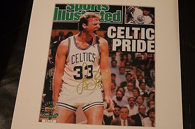 Limited Upper Deck Sports Illustrated Signed Larry Bird Cover Celtic Pride 1991