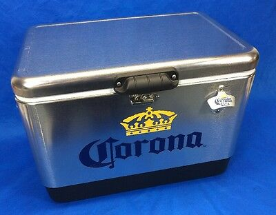 Corona Stainless Steel Cooler 54qt Made In USA By Coleman Never Used!