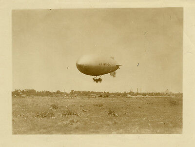 Photo Ballon Dirigeable Army Airship Vers 1920