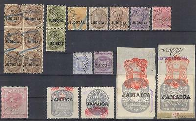 Jamaica British colony revenues fiscal stamps