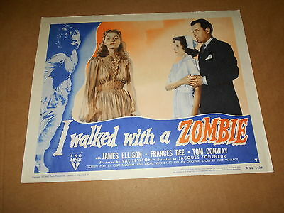 I Walked With A Zombie  Original Lobby Card  R/52 Horror  Frances Dee Tom Conway