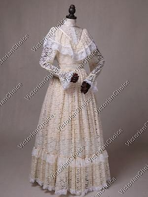 Ivory Edwardian Victorian Downton Abbey Vintage Wedding Gown Bridal Dress 392