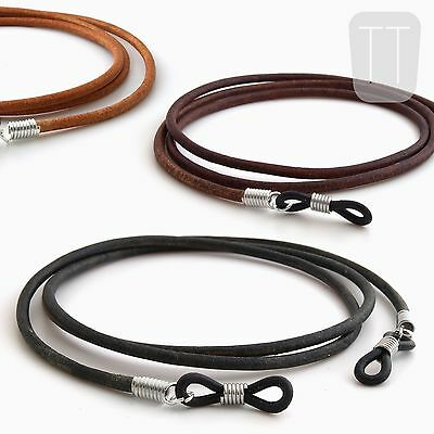 100% REAL LEATHER spectacles reading GLASSES CORD chain neck strap lanyard