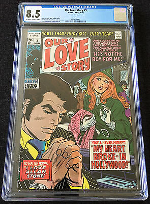 Our Love Story (1969) #5 CGC 8.5 OW/W Pages Steranko Art, Colan Art, Lee Story