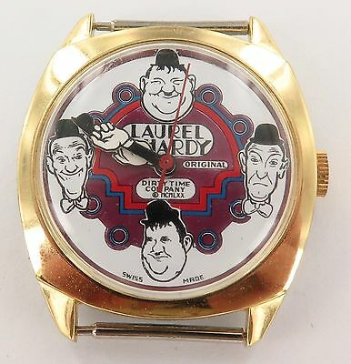 `1970 Very Nice / Minty / New Old Stock Laurel And Hardy Watch, Needs Service