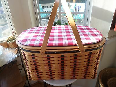 Longaberger  Block Party Basket Combo Fabric Lid,new Liner--Amazing Set