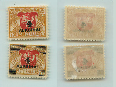Lithuania, 1922, SC 114-115, mint. f956