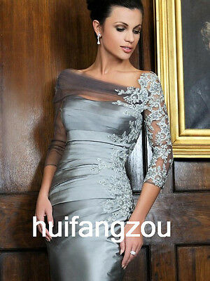 Mother of the Bride Formal Dresses Size 4 6 8 10 12 14 16 18 20 Plus Silver Grey