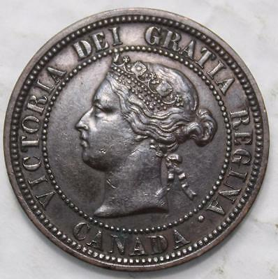 1882H Obv. 1 Large Cent, Nice Grade, Old Date Queen Victoria