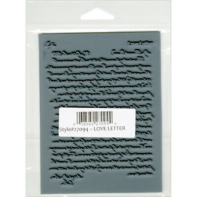 """Lisa Pavelka Individual Texture Stamp 4.25""""X5.5""""-Love Letter"""