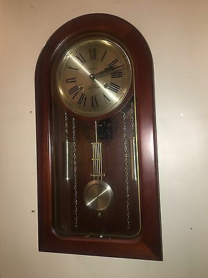 Waltham 31 Day Chime Wall Clock Wood Frame