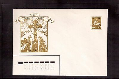 Lithuania 1991 Mint & Unaddressed Postal Stationary Cover !!