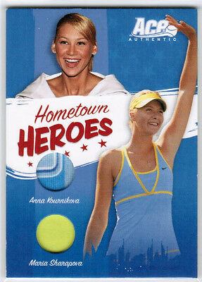 2006 Ace Authentic Kournikova Sharapova Hh-12 Hometown Heroes Dual Jersey /500