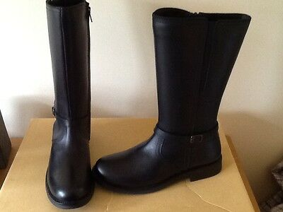 genuine leather ladies classic winter/riding boots,blk sizes 3-6,scoop purchase