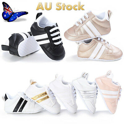 AU Kids Boys Girls Toddler Sports Running Baby Infant Casual Crib Shoes Trainers