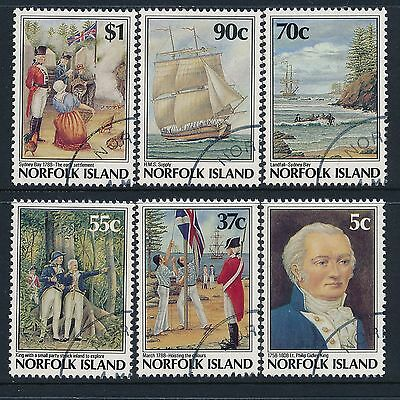 1988 Norfolk Island BICENTENARY (6th Issue) FOUNDATION SET OF 6 FINE USED/CTO
