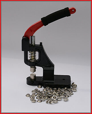 Eyelet Press with Self Piercing 12mm Die 1000 Eylets FREE Banners, Fabric
