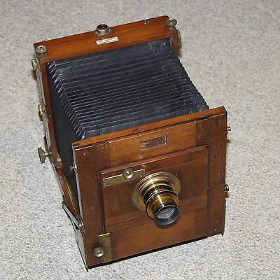 THE INSTANTO UNDERWOOD'S PATENT Vintage Camera wood & brass TAYLOR HOBSON LENS