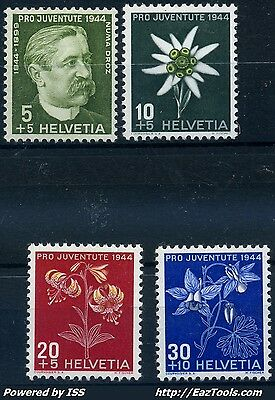 Suisse N° 399/402 Neuf * Avec Charniere