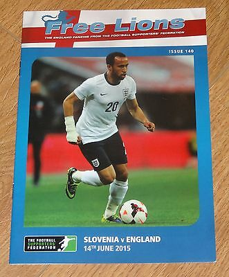 Slovenia v England - Free Lions Programme - Number 140 - 100% Mint Condition