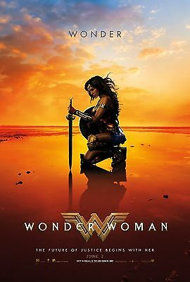 "WONDER WOMAN 2017 Advance Version E DS 2 Sided 27x40"" US Movie Poster Gal Gadot"