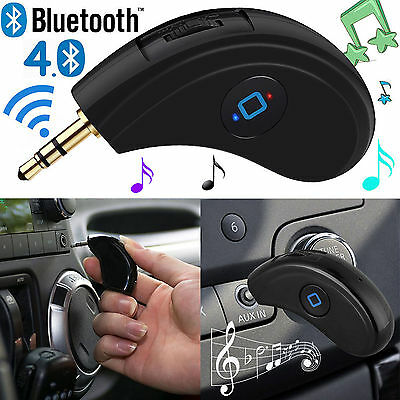 Bluetooth Wireless Audio AUX 3.5mm Adapter Dongle Car Kit for iPhone Android UK