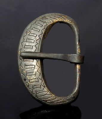 Large Medieval Brass Buckle (L134)