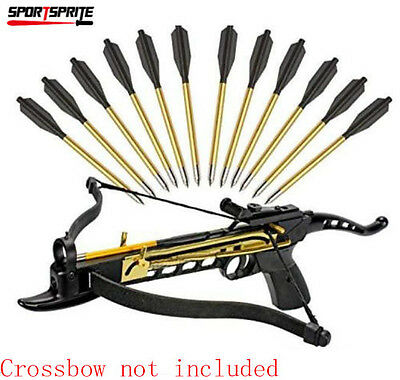 12X Hunting ALUMINUM METAL BOLTS ARROWS FOR 50 & 80 lb CROSSBOW ARCHERY XBOW