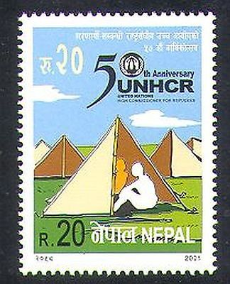 Nepal 2001 Refugees/Welfare/Health/Commissioner/Camping/Animation 1v (n37211)