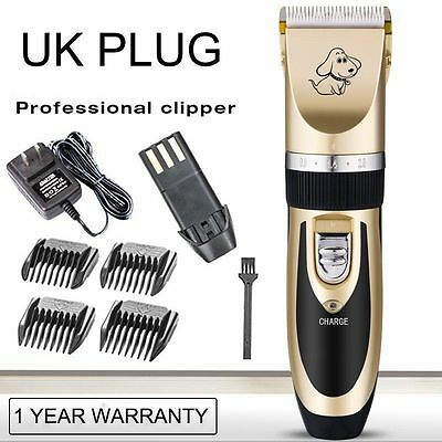Dog Hair Clippers Remover Electric Rechargeable Grooming Pet Cutter Comb Kits UK