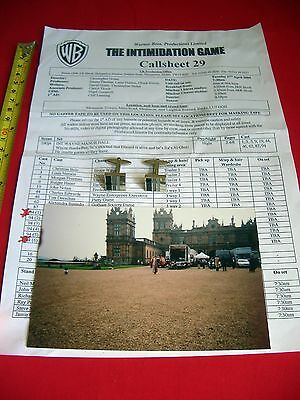 Batman Begins Wayne Manor Film Movie Props Call Sheet Photo Christopher Nolan