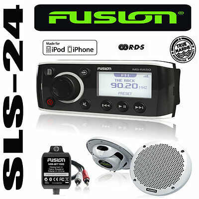 FUSION MARINE Radio MS-RA50KTS + 2 Lautsprecher + Bluetooth Adapter iPod iPhone