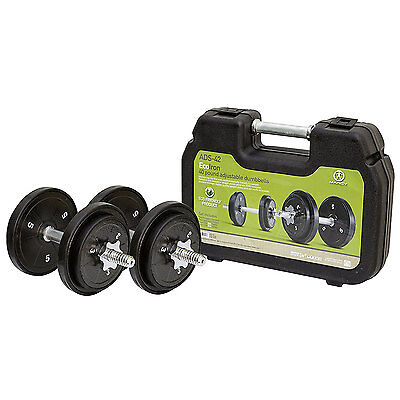 Marcy ECO Iron 40 Pound Adjustable Dumbbell Set with Carrying Case | ADS-42