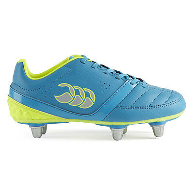 Canterbury Phoenix Club 6 Stud Kids Junior Rugby Boots 2016 Atomic Blue/Safety