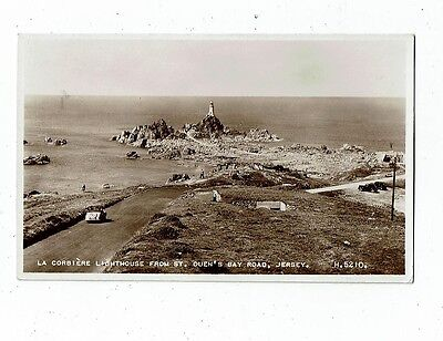 Post Card Real Photo La Corbiere Lighthouse From St. Ouen`s Bay Road, Jersey