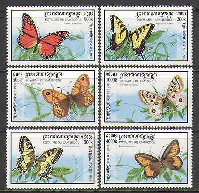 Cambodia 1998 Butterflies/Insects/Nature 6v set  b4192a