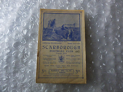 Scarborough v Wisbech Town Wednesday 14th April 1954 Midland League