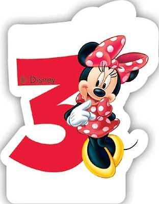 Minnie Mouse Number 3 Shaped Birthday Cake Candle