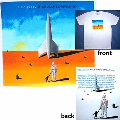"""Tom Petty """"highway Companion"""" Tour White T-Shirt Small New Official Soft"""