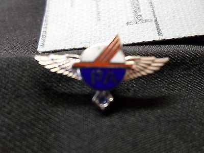 Vintage Piedmont Airlines Pin - 10k White Gold 1 Blue Sapphire 5 year pin