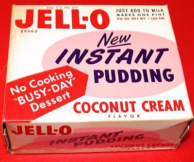 VINTAGE 1950's JELL-O PUDDING & PIE FILLING Butterscotch Full Box OLD STOCK mib