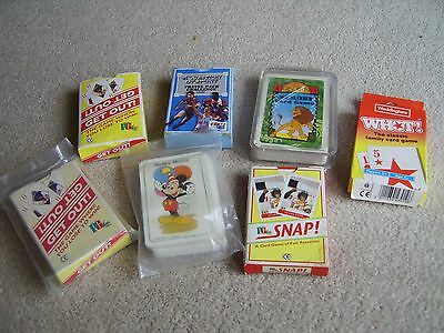 Assorted card games, PG Tips, Lion King, Whot etc etc