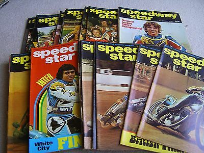 27 Consecutive editions of Speedway Star magazine 1977 July-December