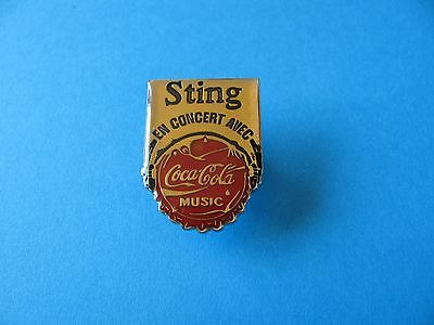 Vintage STING en Concert, Coca Cola Pin Badge. Good Condition. (Of The Police)