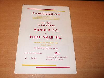 1977 FA CUP 1ST RD ARNOLD v PORT VALE