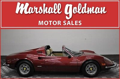 1973 Ferrari Other  1973 FERRARI DINO 246GTS ROSSO RUBINO TAN LEATHER DAYTONAS AC PW  16,200 MILES