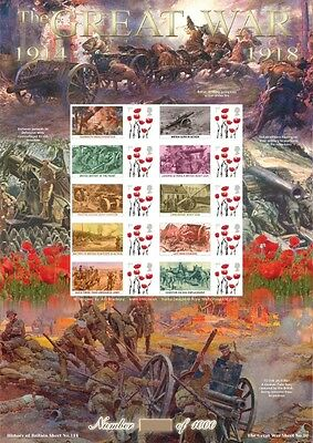 2015 The Great War No.10 History of Britain No.114 Business Smilers Sheet
