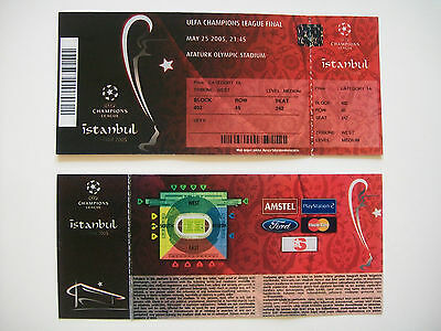 2005 European champions league Cup Final Ticket Liverpool v A.C.Milan. Mint Con.