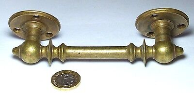 Solid Brass Door/cupboard/gate Pull Handle Victorian Arts & Crafts Recycled